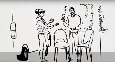 Illustration stylisée d'un paiement avec Orange paiement pro