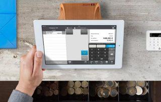 Caisse enregistreuse SumUp avec iPad, tiroir caisse et lecteur SumUp