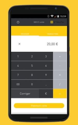 Comment entrer un montant dans l'application Smile&Pay
