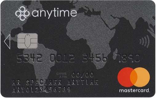Carte Mastercard Anytime