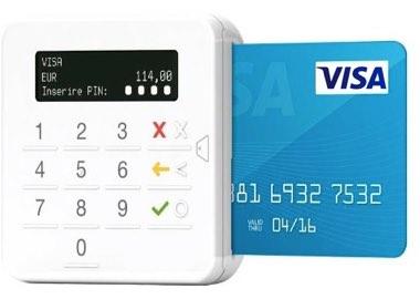 Le lecteur de carte bancaire inclus dans la version Pro du compte Anytime