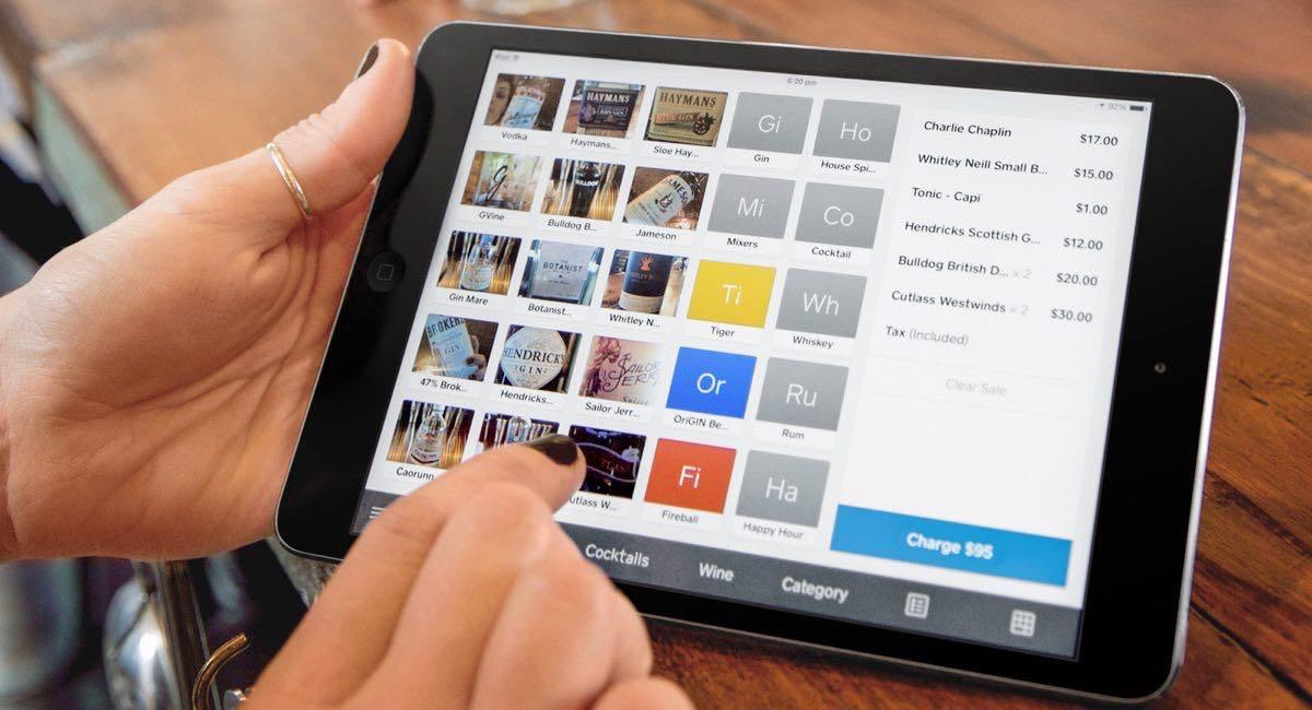 Utilisation de l'application Square sur une tablette