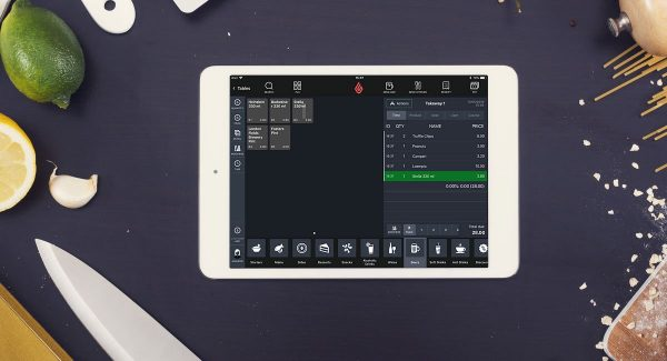 Application Lightspeed restaurant sur un iPad