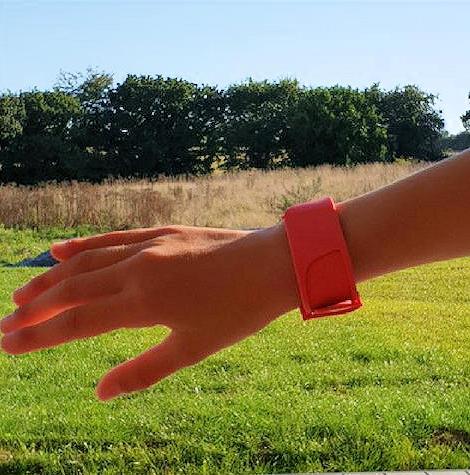 Prototype du bracelet connecté d'Arkea