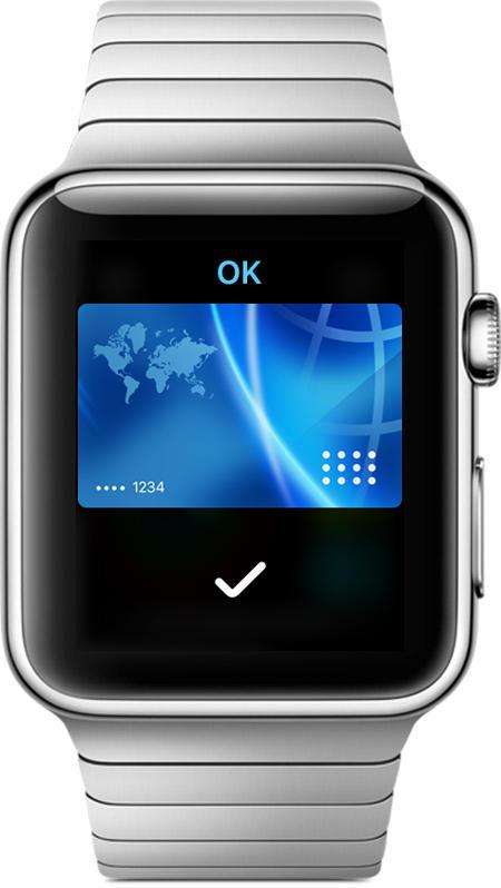 Paiement sans contact avec Apple Watch