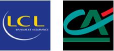 Logos de LCL et du Crédit Agricole