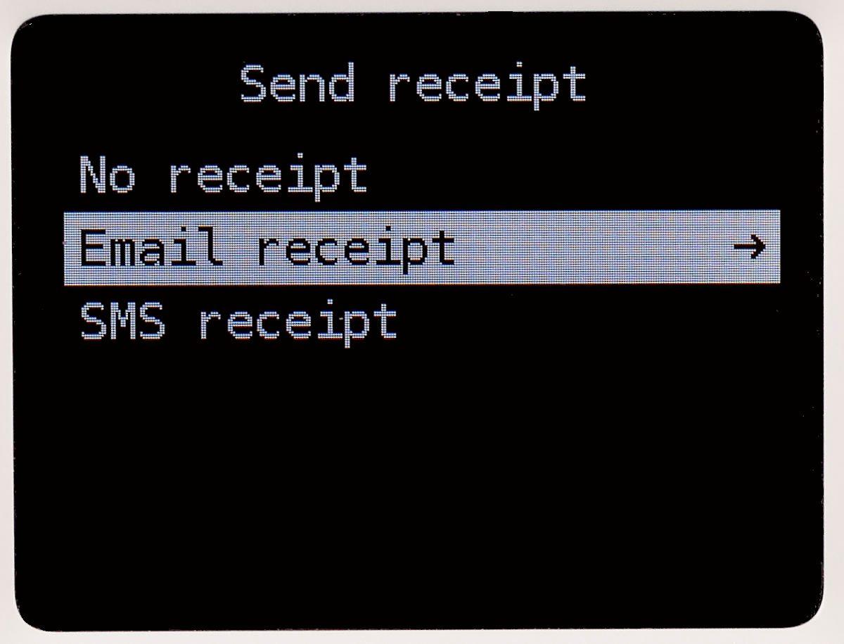 SumUp 3G : envoi de reçus par SMS