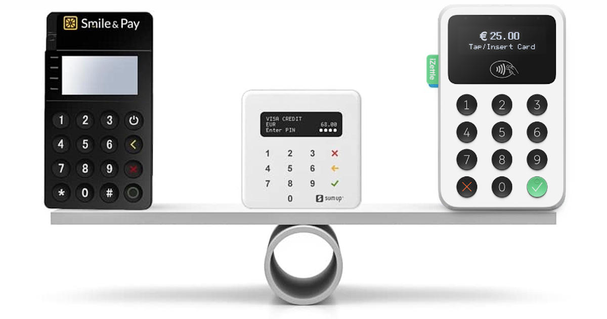 Comparatif iZettle Smile and Pay et SumUp