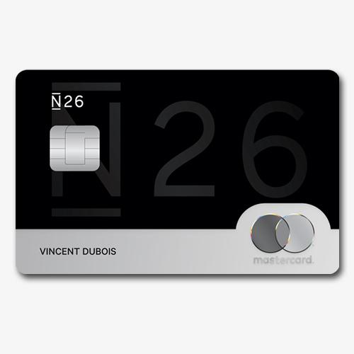 La carta N26 Black si presenta elegante e sobria