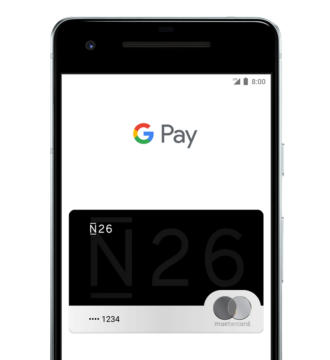 Carte N26 dans l'application Google Pay