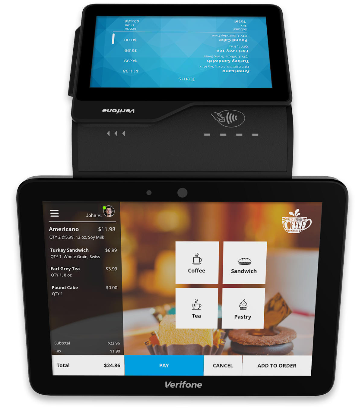 Terminal intelligent Verifone Carbon 8
