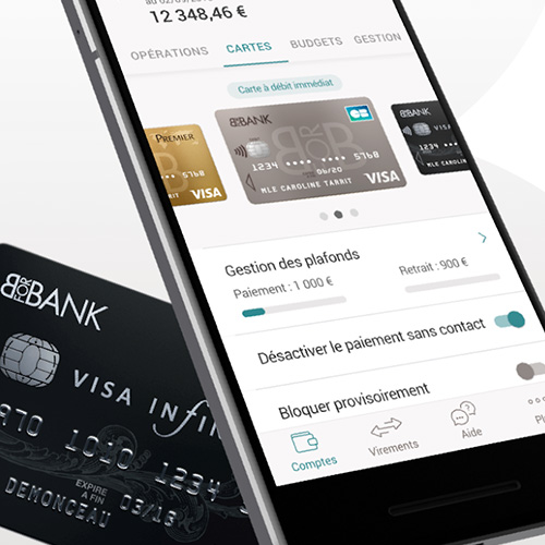 Gestion des cartes avec l'application BforBank