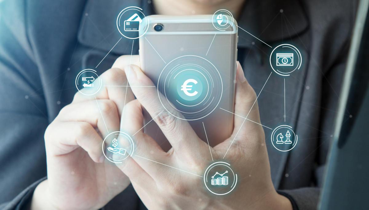Utilisation d'un compte bancaire professionnel en ligne sur un portable