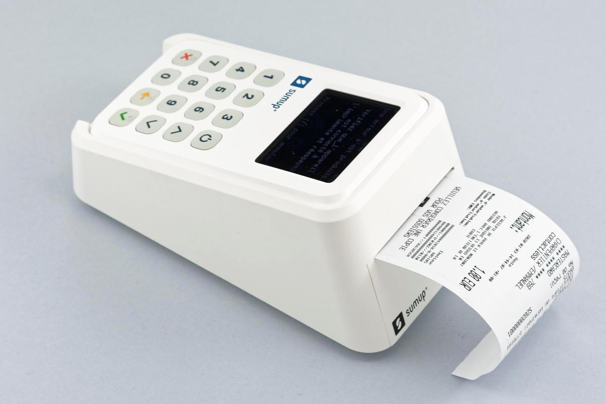 Impression d'un ticket avec l'imprimante du Pack 3G de SumUp
