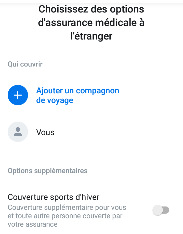 Souscription de l'assurance avec l'application Revolut