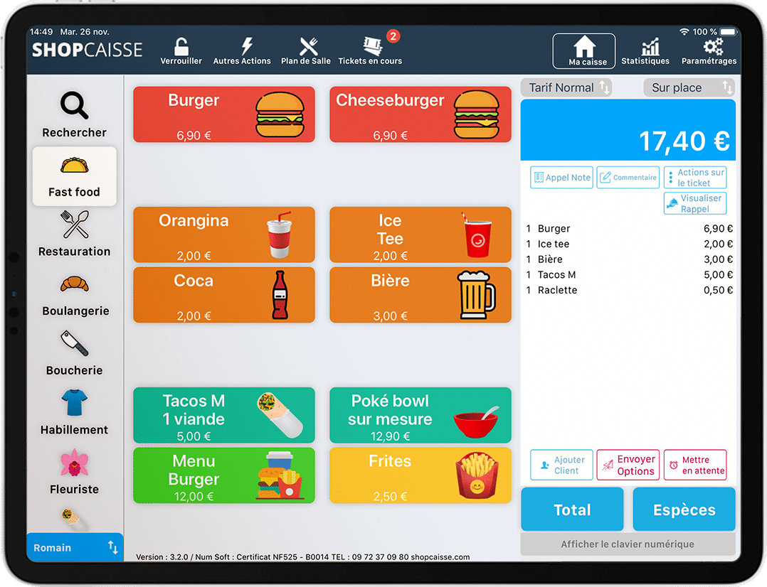 Application Shopcaisse