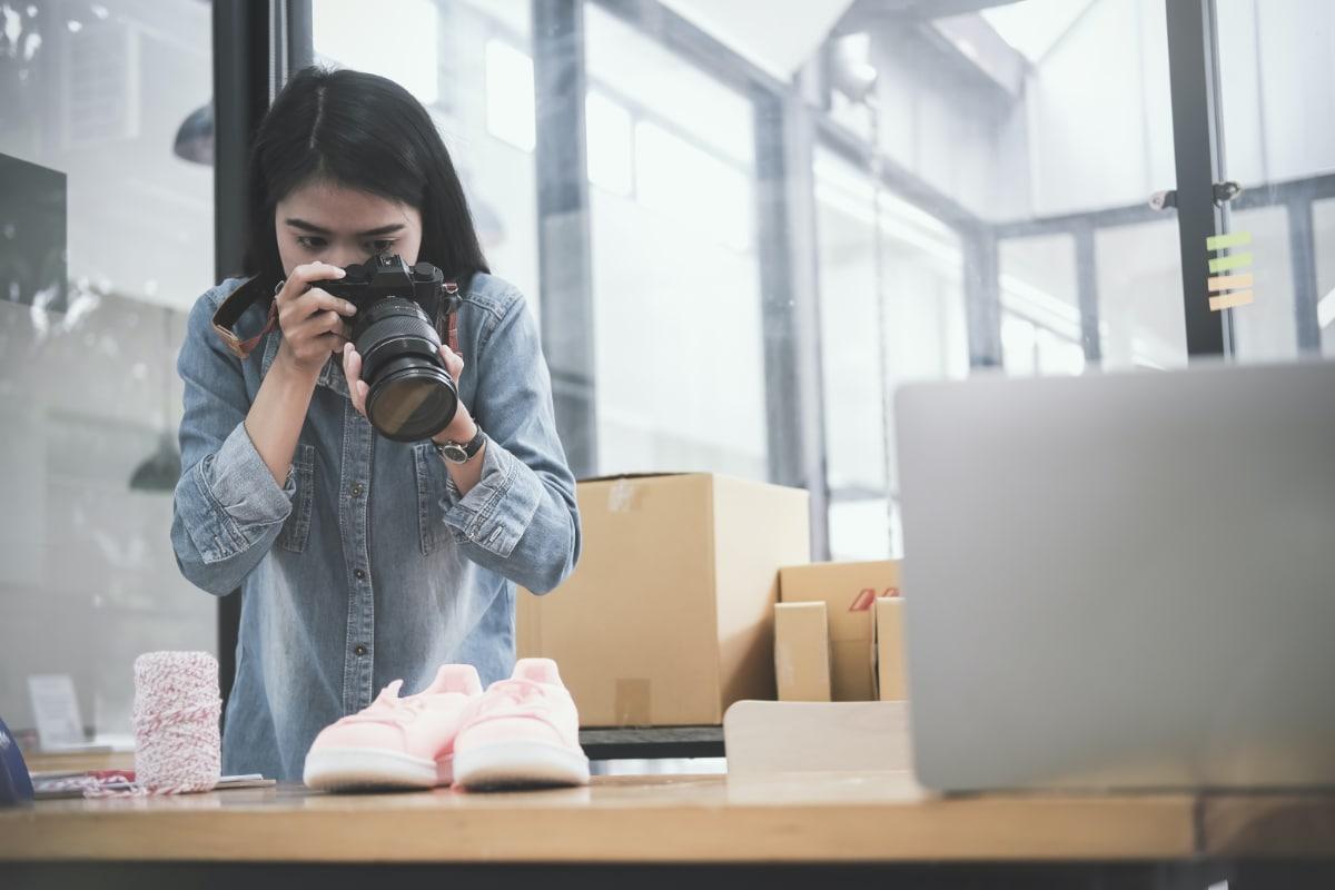 Photographie d'articles pour la vente en ligne
