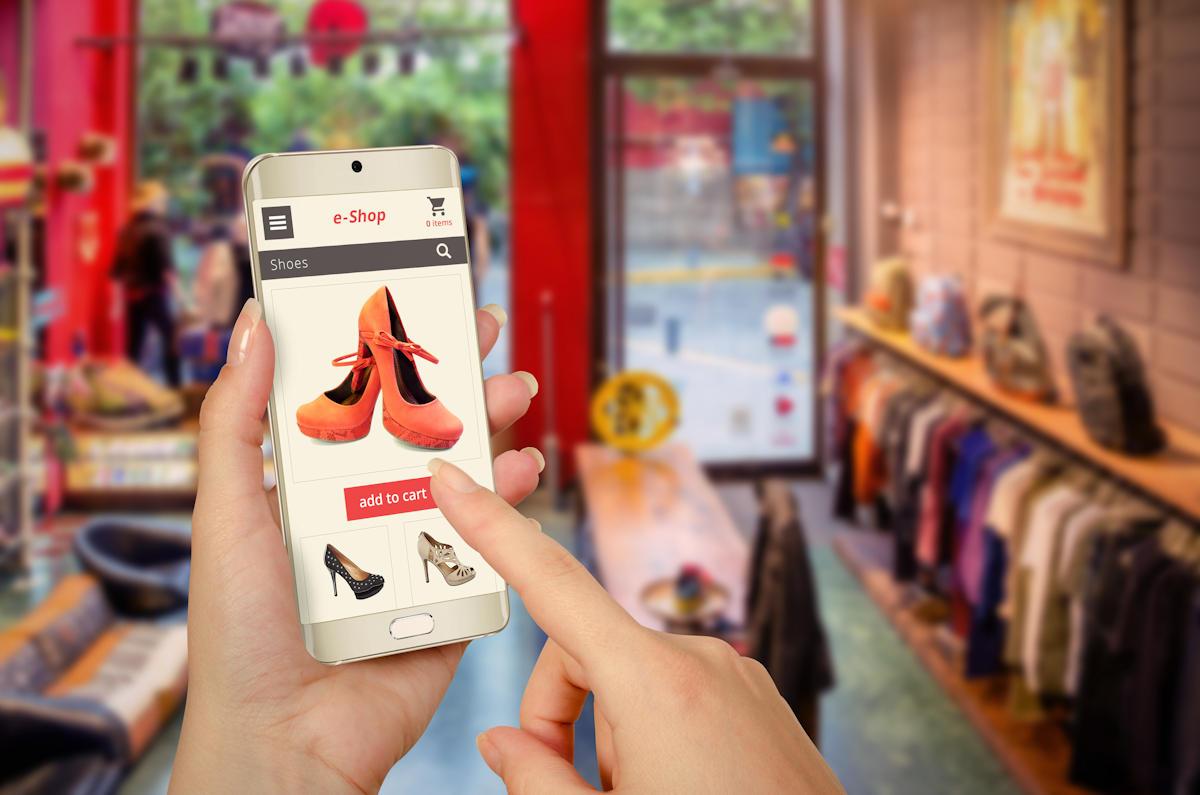 Site de vente en ligne sur mobile