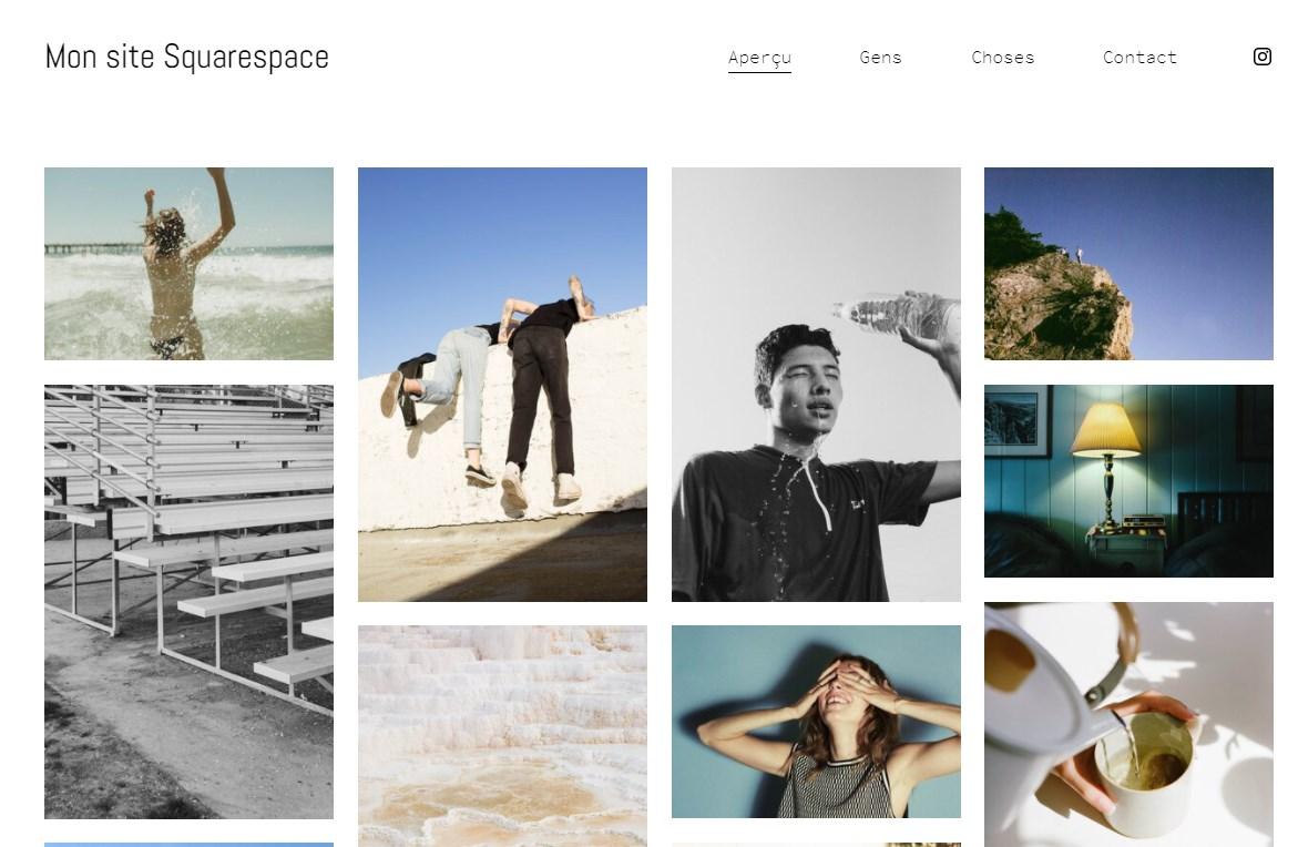 Squarespace, thème pour photographes