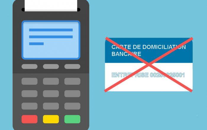 TPE sans carte de domiciliation bancaire
