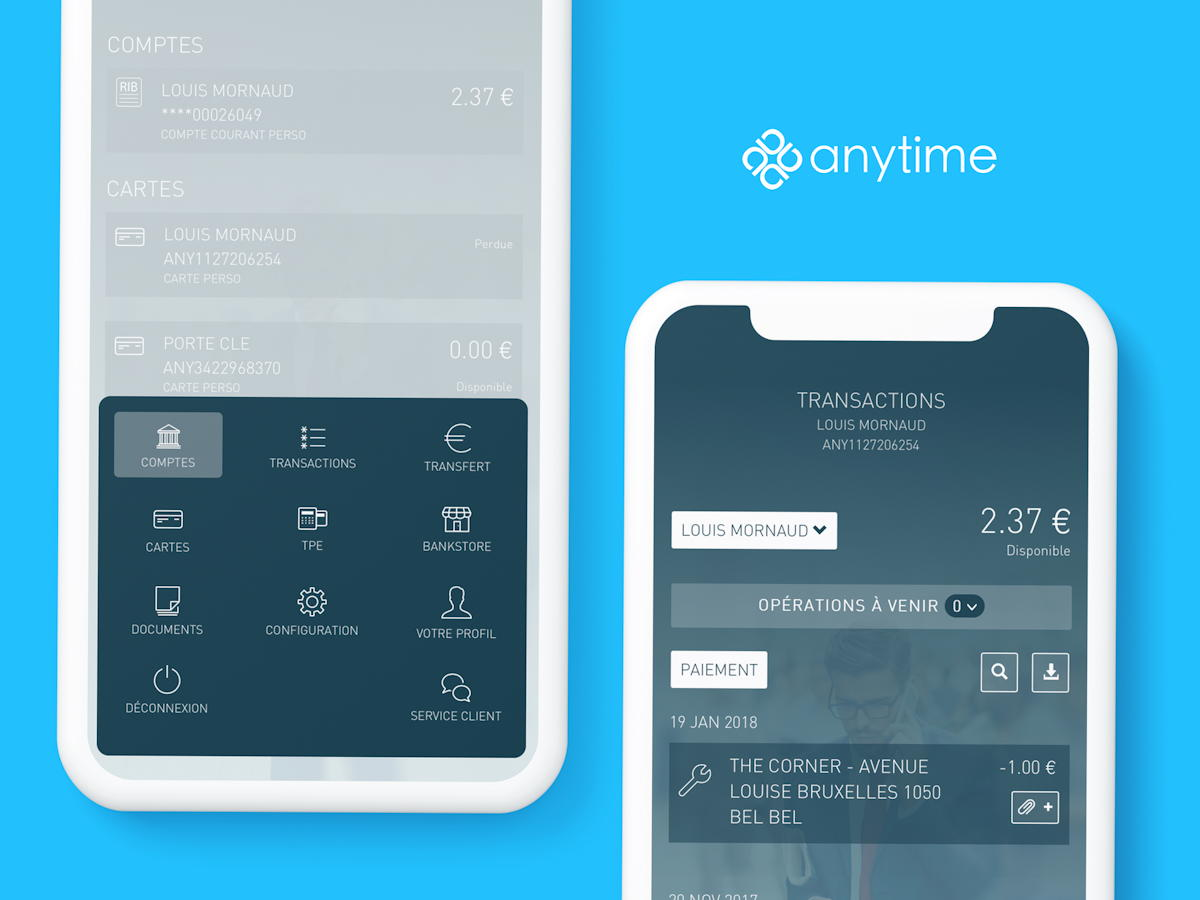 L'application Anytime