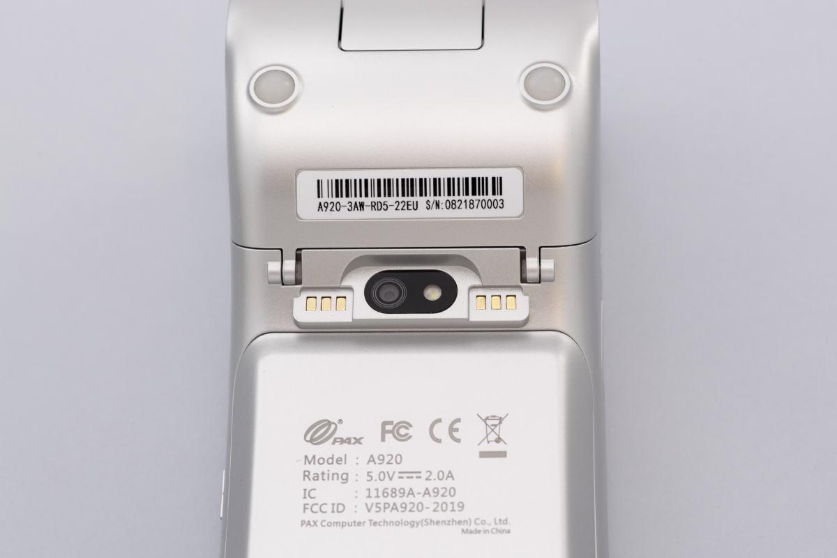 Caméra arrière du PAX A920