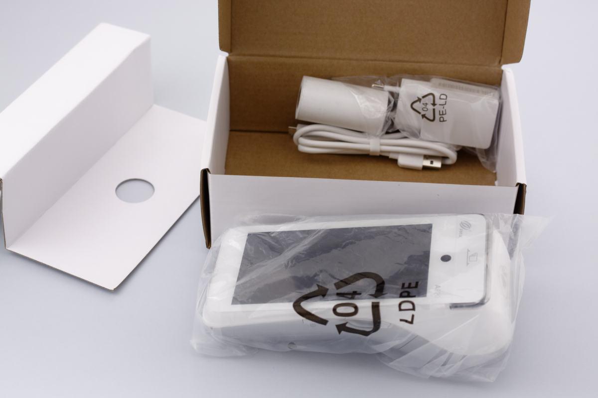 Déballage du PAX A920 compartiment ouvert
