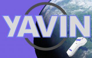 Yavin, logo et terminal de paiement