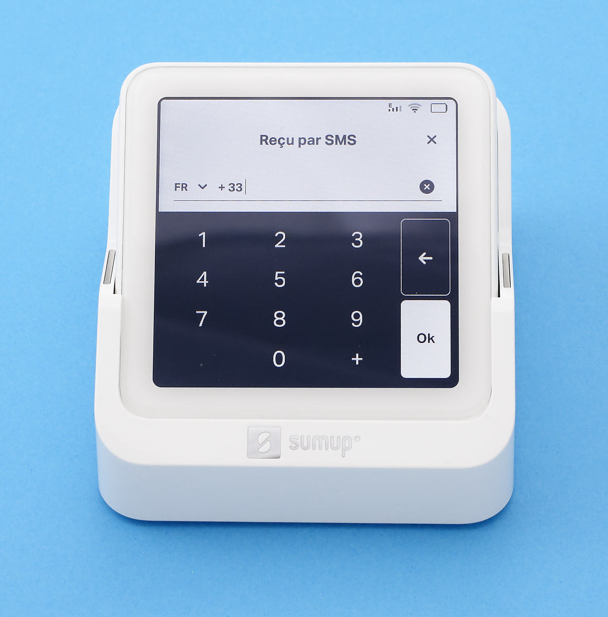 SumUp Solo : envoi d'un reçu par SMS
