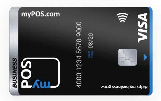 Carte Visa myPOS